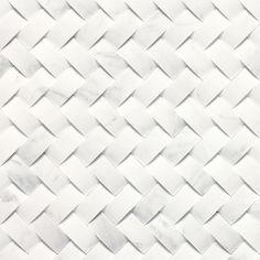 "Daltile - Stone a la Mode Tile Basketweave Honed 1 1/2"" X 3/4"" - Contempo White | Aubrey Flooring"