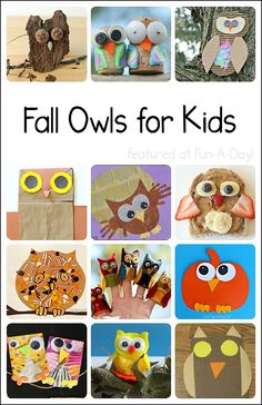 Great for a theme about owls or nocturnal animals! Collection of 24 owl crafts and activities for kids. Lots of fall fun! (cupcakes owls on arm and handprint as tree) Owl Classroom, Classroom Crafts, Fall Preschool, Preschool Crafts, Autumn Activities, Craft Activities For Kids, Learning Activities, Craft Ideas, Fall Crafts For Kids