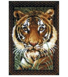 Wonderart Latch Hook Kit 27''x40''-Tiger: latch hook: cross stitch: yarn & cross stitch: Shop | Joann.com
