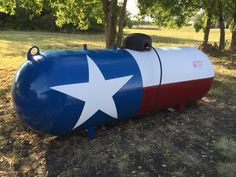 Texas flag - painted propane tank