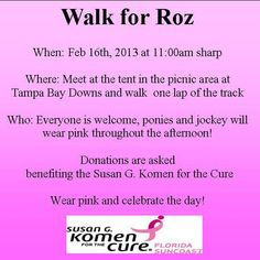 """Please Join Us on February 16, 2013 at 11:00 am (sharp) and help us """"Find the Cure""""!"""