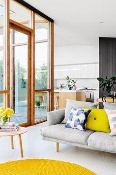 Yellow Ton Summer Living Room Decorating Ideas