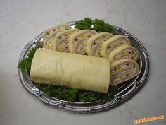 Sýrová roláda za půl hodinky Eastern European Recipes, Sausage, Menu, Bread, Cheese, Cooking, Tableware, Kitchen, Food