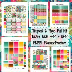 Beautiful Tropics Kit! | Free Printable Planner Stickers from plannerproblem.wordpress.com. Download all 6 pages for the Big Happy Planner, Happy Planner, Erin Condren Vertical, Erin Condren Horizontal! https://plannerproblem.wordpress.com/2016/07/22/tropics-kit-free-printable-planner-stickers/