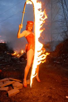 Lucifire is a fakir, a fire performer.