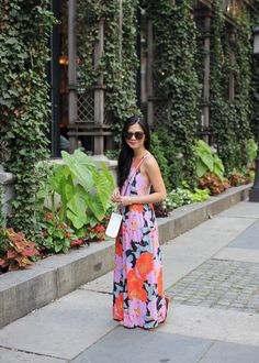 The Perfect Summer Outfit // Floral Maxi Dress