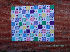 """King Size 90"""" x 110""""  All over freehand swirly quilting    This is my beautiful quilt that my stepmom and sister made for me.  Love it so much!!"""