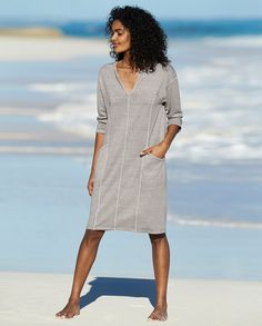 5b37405ae36575 Poetry - Hemp cotton jersey dress - A great casual dress in our soft and  comfortable
