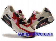new arrival f01da 9bcd1 Comprar baratos mujer Nike Air Max 90 Zapatillas (color rojo,blanco,negro)  en linea en Espana.