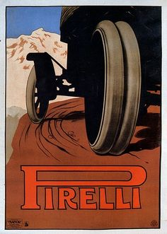 Vintage Italian Posters Pirelli Poster by Doug Karoly Vintage Italian Posters, Pub Vintage, Vintage Advertising Posters, Vintage Labels, Vintage Travel Posters, Vintage Advertisements, Poster Vintage, Art Deco Posters, Poster Ads