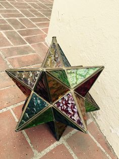 Turn of the Century Multi Colored Glass Stellate on Chairish.com