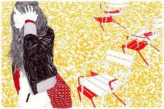 Carine Brancowitz: Medicis, 2010 pens on paper / 120X80 cm