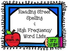 This is a pack of spelling and high frequency word lists for the 2013 Scott Foresman Reading Street series for first grade. I put these lists in my student's binders for at home practice. Don't forget to check out my other Reading Street resources for first grade! :)