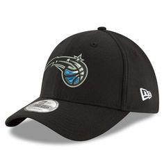3483661df8318 Men s New Era Black Orlando Magic Team Classic 39THIRTY Flex Hat