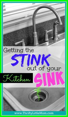 Need to get the stink out of your kitchen sink. Sometimes stuff goes down the drain and leaves a terrible odor behind! This is a quick and easy way to get rid of the stink.