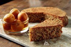 Langhe dessert - Hazelnut cake and Apricots in Moscato wine syrup. #langhefood #italianfoodonline #langhe #italianfood