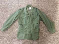 a2370943934 Vintage Vietnam era 1974 M65 field jacket OG107 coat Sz Small Short Alpha  Industries