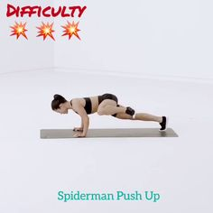 One-arm push ups are a versatile bodyweight exercise. They're great for fat loss, enhancing cardiovascular physical fitness and enhancing the body. Learn how to do One-arm push ups with this exercise video. Fitness Workouts, Fitness Diet, Yoga Fitness, At Home Workouts, Fitness Motivation, Health Fitness, Fitness Plan, Physical Fitness, Shape Fitness