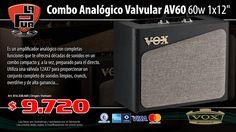"La Púa San Miguel: Combo Analógico Valvular VOX AV60 60W 1x12"""