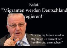 #Islamisierung 22.4.2016 Der Vorsitzende der Türkischen Gemeinde in Deutschland (TGD), Kenan Kolat, erwartet schon bald die endgültige Machtübernahme von Einwanderern in Deutschland.
