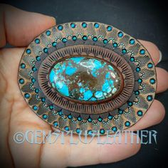The #conchos are ready and listed as samples in my #etsyshop #gemsplusleather 😊 If you'd like to order a stunning accessory for your favorite #bag you're welcome to contact me 🙃 #turquoise #chrysocolla #customleather #tooledleather #gem #gemstone #leather #concho #handpainted #leatherwork #Leathersmith #leatherworks #leathercraft #handmade #leatherart #artisan #boho #fantasy #gemstones #gemsforall #gems #handmadewithlove #leatherwork #bagaccessories #bohobags Leather Ring, Leather Art, Painting Leather, Custom Leather, Leather Tooling, Leather Jewelry, Boho Jewelry, Tooled Leather, Leather Gifts For Her