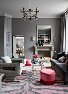 Gray living room ideas - how to get this shade right | Livingetc Living Room Paint, Living Room Grey, Living Room Furniture, Living Room Decor, Living Rooms, Living Spaces, Art Deco, Living Room Lighting, Fall Home Decor