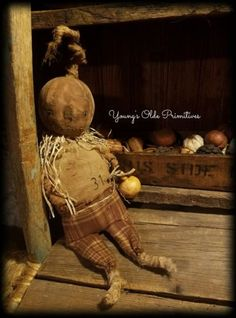 ~Primitive Pumpkin Doll Fall~Halloween~