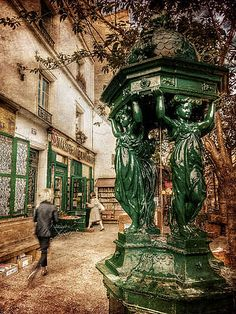 Wallace Fountain By Shakespeare And Co / Paris Print by Barry O Carroll Siena, French Riviera, Paris Street, Happy People, Shakespeare, Fine Art America, Fountain, Lion Sculpture, Europe