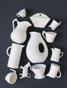 white porcelaine