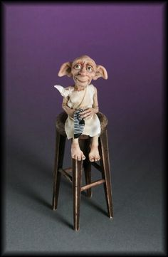 Dobby, the House Elf by Creager Studios Harry Potter Miniatures, Harry Potter Dolls, Dobby Harry Potter, Harry Potter Wand, Harry Potter Movies, Magical Creatures, Fantasy Creatures, Harry Potter Broomstick, Dragons