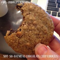 """Not-So-Oatmeal Chocolate Chip Cookies - Mrs. Criddles Kitchen...these supposedly have a """"real"""" cookie texture...we shall see."""