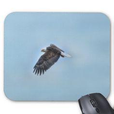 Soaring Bald Eagle Wildife Photo 4 Mouse Pad