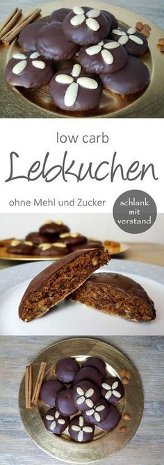 low carb Lebkuchen Rezept ohne Mehl und Zucker low carb gingerbread recipe without flour and sugar Low Carb Sweets, Low Carb Desserts, Low Carb Recipes, Baking Recipes, Cookie Recipes, Diet Recipes, Chicken Recipes, Vegan Recipes, Paleo Dessert
