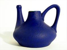 ceramamo (decor adria) german art pottery - 1950's in Yves Klein Blue glaze.....