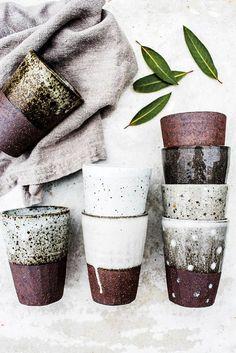 Image of Speckle beaker Ceramics Ceramic Clay, Ceramic Pottery, Pottery Mugs, Glazed Pottery, Stoneware Clay, Keramik Design, Sculptures Céramiques, Pottery Classes, Paperclay