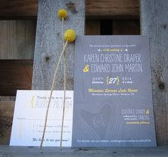 woodgrain wedding invitation  |  rustic, outdoor, woodland wedding