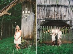 A Rustic Engagement Session with a Vintage Piano