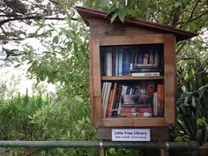 Little Free Library at the top of the 22nd Street Jungle Stairs in Noe Valley