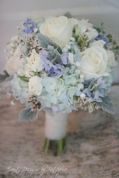 Blue, White and Sage Green Bouquet / Vive L'Amour