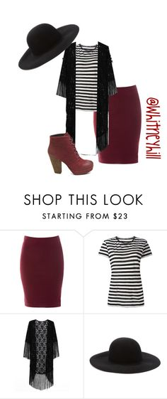 """""""Modestly Chic"""" by whitneyhill ❤ liked on Polyvore featuring Glamorous, Proenza Schouler, Forever 21 and Steve Madden"""