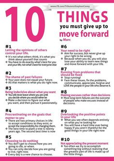 10 things you must give up to move forward Thanks @RoosvanVugt en @MvanAppeldorn