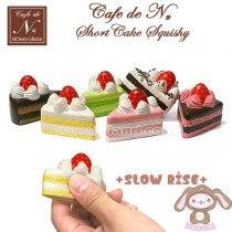 *PRE-ORDER* Café de N *SLOW RISE* Squishy Mascot ~ Short Cake Squishy