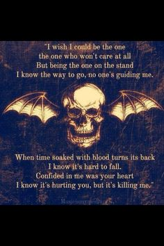 Unholy Confessions - Avenged Sevenfold Lyrics (my favorite Avenged song) Music Love, Music Is Life, My Music, Avenged Sevenfold Quotes, Matt Shadows, Zacky Vengeance, Love Of My Life, My Love, The Rev