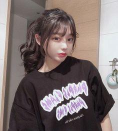 Pelo Ulzzang, Ulzzang Hair, Ulzzang Korean Girl, Cute Korean Girl, Korean Bangs Hairstyle, Hairstyles With Bangs, Pretty Hairstyles, Korean Hairstyles Women, Ulzzang Girl Fashion