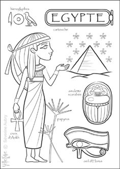 Egypt Coloring Page Not In English But My Kindergartener Will Like It Just The Same