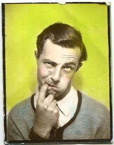 PHOTOBOOTH PHOTO! HAND TINTED SILLY GUY SHARPENS HIS HUMOUR   eBay