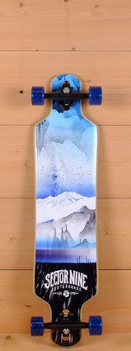 """The Sector 9 40"""" Meridian Blue is designed for carving and cruising."""
