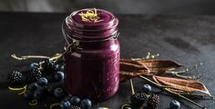 Trick your friends with this spooky looking blackberry smoothie post-workout treat.