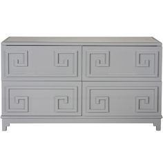 This Gray Lacquer #Dresser from @WorldsAwayDecor is perfect for any stylish #bedroom!