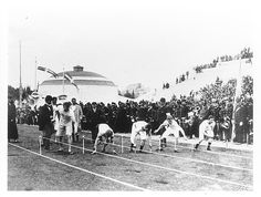 The first modern Olympic Games took place in Athens in 1896. 14 countries were represented by about 245 men, competing in 43 events.  image source: http://www.olympic.org